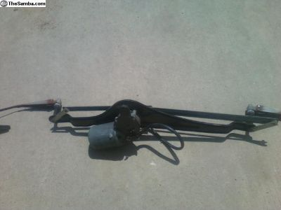 wiper motor complete with wiper arms and hardware