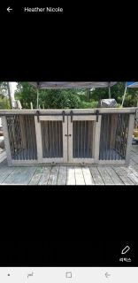 Double dog kennel 6.6ft