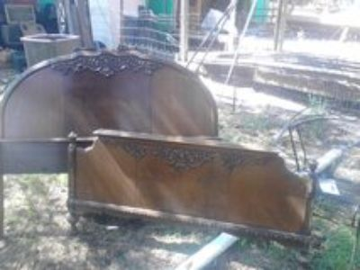 antique headboard and footboard