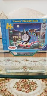 Brand New Thomas The Train Midnight Ride 100 Piece Glow In The Dark Puzzle Un Opened Box