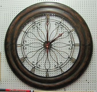 Large Metal Wall Clock approx 4ft