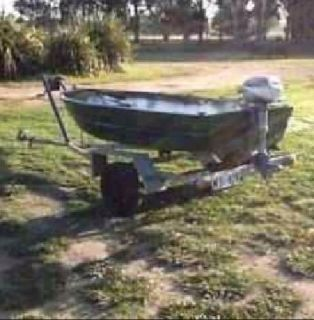 13' Leather Craft fishing boat w/trailer