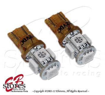 Buy Set of 2pc Yellow Glove Box 5 SMD LED Light Bulb 194 158 168 - T10 Wedge 1 Pair motorcycle in La Puente, California, US, for US $6.15