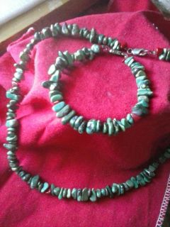 Beautiful Necklace and matching bracelet, genuine stones