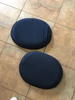 2 donut seat cushions. Covers were just removed, washed,and replaced. Porch pickup. $4 each.