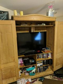 tv stand entertainment center all wood