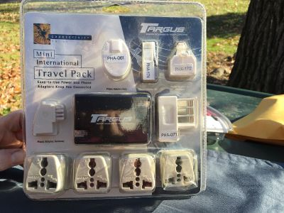Travel pack of outlet adapters for foreign travel