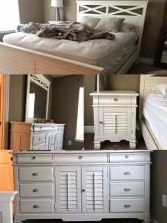 Queen sized bedroom set, mattress, box spring