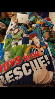 Toy Story toddler bed blanket