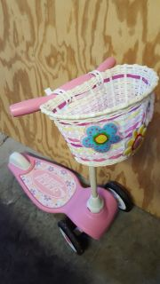 EUC Radio Flyer scooter with basket