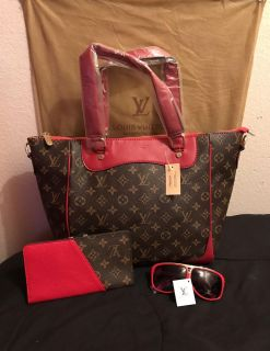 Valentines Day Special: Red Neverfull mm Lv Set