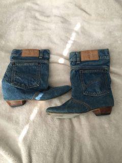 Vintage 80 s Denim boots