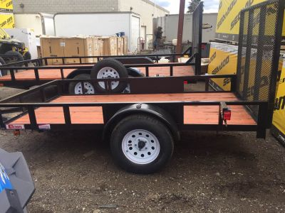 2019 Carson Trailer 5x10 Wood Deck Flatbed Trailers Castaic, CA