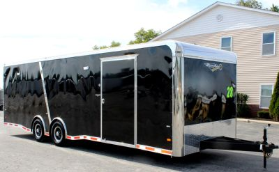 2019 28' Enclosed Race Trailer LOADED