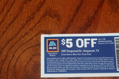 This Weeks ALDI $5.00 Coupon