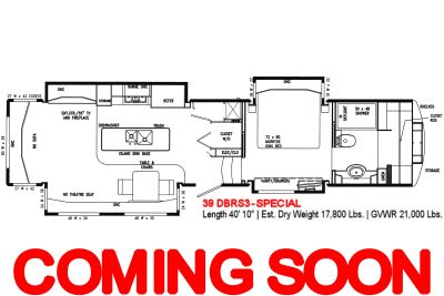 "2019 DRV Mobile Suites<br>39DBRS3-SPECIAL<br>Fifth Wheel RV<br>(SPECIAL: ""Pantry"" and<br>""Closet with Whirlpool Residential Washer &<br>220V Residential Dryer""<br>in place of Half Bath)"