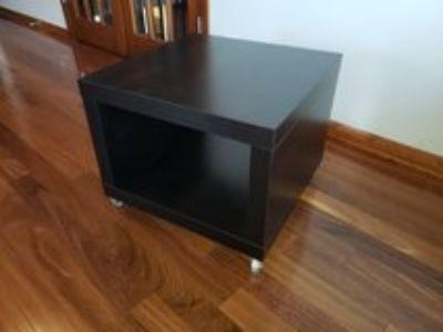 IKEA wheeled end table
