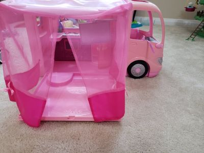 Barbie Motor Home and Princess Tiana Car
