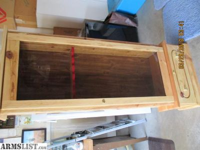 For Sale: Refinished Knotty Pine Gun Cabinet