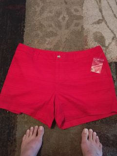 Faded glory nwot 14 red shorts - ppu (near old chemstrand & 29) or PU @ the Marcus Pointe Thrift Store (on W st)