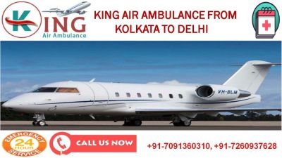 Take Pre-eminent King Air Ambulance Service in Kolkata