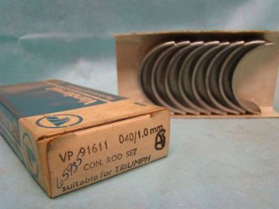 Sell Triumph 1296cc 1493cc L4 Connecting Rod Bearing Set 040 1970 - 1980 VP 91611 motorcycle in Vinton, Virginia, United States, for US $50.00