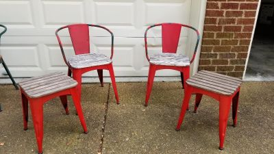 Pottery Barn Metal and Wood Chairs