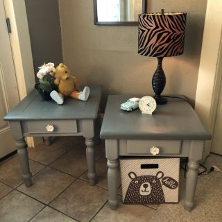 Two-tone grey End Tables or Nightstands