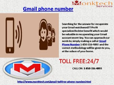 Gmail Phone Number for the Unmatched Excellence via 1-850-316-4893
