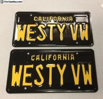 Westy VW California Black Plates, Westfalia