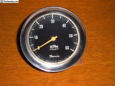 """Faria"" Tachometer from F/Vee Racing Car"