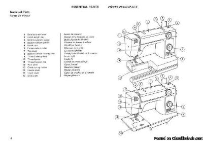 Janome New Home 345 Sewing Machine Instruction Manual