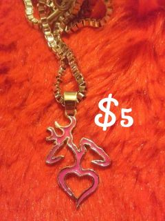 Pink Browning Necklace
