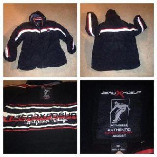 zeroXposur size XXL down feather hooded SKI jacket