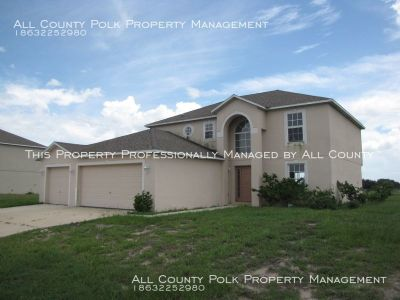 4BR/2.5BA single family home with 3 car garage.