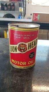 Gilmore Lion Head 1 quart oil can