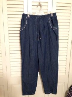 Capacity Size L. Lightweight Denim Pull on Pants. Pick up at Target in McCalla on Thursdays 5:15 to 6:00pm.