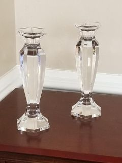 Mikasa Crystal Candle Holders