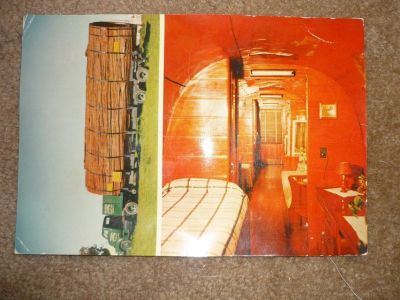 straughan redwood log house jumbo postcard