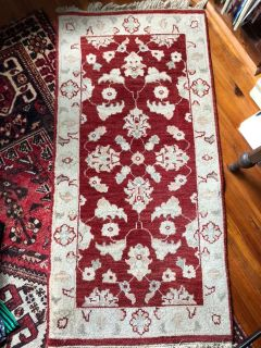 Antique oriental rug 27 x 57