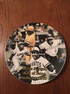 Willie Stargell Hall of Fame Inductee 1988 commemorative plate