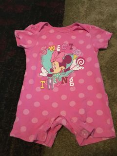 6-9m pink Minnie romper - ppu (near old chemstrand & 29) or PU @ the Marcus Pointe Thrift Store (on W st)