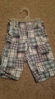 Gap plaid pants (red, green, navy) 6-12 month