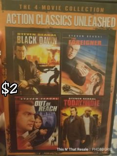 Classic action 4 movies in 1 dvd