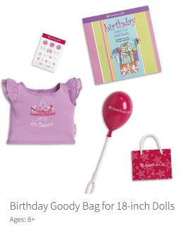 New in package American Girl Doll Birthday Set