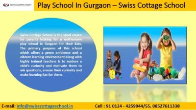 Swiss Cottage School Offers your Child a Solid Platform