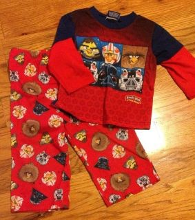 Baby/Toddler boy Angry Birds long sleeve pajamas size 2T