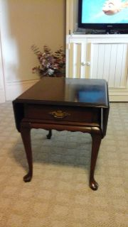 Ethan Allen coffee table 2 end tables and minarets chest.