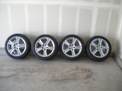 """RC Design Alloy 17"""" rims & Continental ContiSportContact 225/45-R17 Summer Performance Tires"""