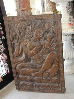 STOREWIDE FREE SHIPPING!!Vintage Hand Carved Fluting Krishna Carving